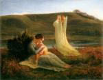 Anne François Louis Janmot - paintings - The Poem of the Soul (The Angel and the Mother)