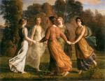 Anne François Louis Janmot - paintings - The Poem of the Soul (Rays of the Sun)