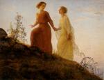 Anne François Louis Janmot - paintings - The Poem of the Soul (On the Mountain)