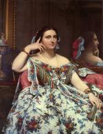 Jean Auguste Dominique Ingres - Bilder Gemälde - Madame Paul Siegberts Moitessier Seated