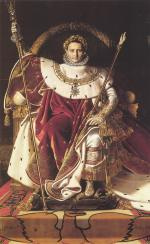 Jean Auguste Dominique Ingres - paintings - Napoleon I on his Imperial Throne