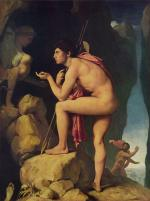 Jean Auguste Dominique Ingres - paintings - Oedipus and the Sphinx