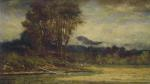George Inness - paintings - Landscape with Pond