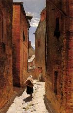Alphonse de Neuville - paintings - Street in the Old Town