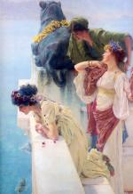 Sir Lawrence Alma Tadema - paintings - A Coign of Vantage