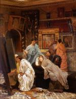 Sir Lawrence Alma Tadema - paintings - A Collection of Pictures at the Time of Augustus