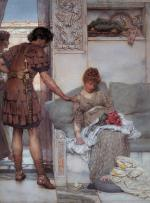 Sir Lawrence Alma Tadema - paintings - A Silent Greeting