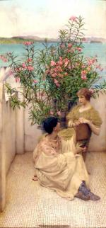 Sir Lawrence Alma Tadema - paintings - Courtship