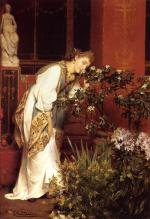Sir Lawrence Alma Tadema - Bilder Gemälde - in the peristyle