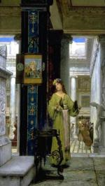 Sir Lawrence Alma Tadema - paintings - In the Temple