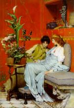 Sir Lawrence Alma Tadema  - Bilder Gemälde - Confidences