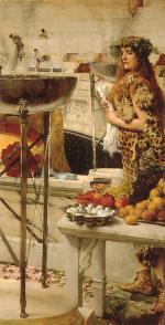 Sir Lawrence Alma Tadema  - Bilder Gemälde - Preparation in the Coliseum