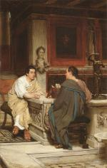 Sir Lawrence Alma Tadema  - Bilder Gemälde - The Discourse