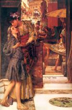 Sir Lawrence Alma Tadema  - Bilder Gemälde - The Parting Kiss