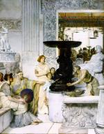 Sir Lawrence Alma Tadema  - Bilder Gemälde - The sculpture gallery