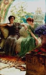 Sir Lawrence Alma Tadema  - Bilder Gemälde - unwelcome confidences
