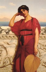 John William Godward - paintings - A Classical Lady