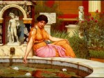 John William Godward - paintings - a lily pond