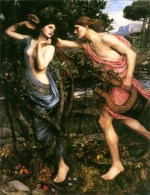 John William Waterhouse - Bilder Gemälde - Apollo und Daphne