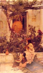 John William Waterhouse - Bilder Gemälde - at capri