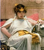 John William Waterhouse - Bilder Gemälde - Cleopatra