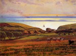 William Holman Hunt - Bilder Gemälde - Fairlight down sunlight on the sea