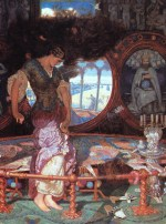 William Holman Hunt - Bilder Gemälde - the lady of shalott