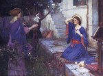 John William Waterhouse  - Bilder Gemälde - The annunciation