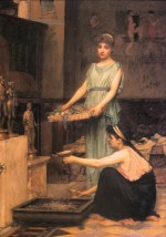 John William Waterhouse  - Bilder Gemälde - Die Haushälterinnen