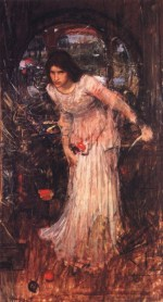 John William Waterhouse  - Bilder Gemälde - Die Lady von Shalott