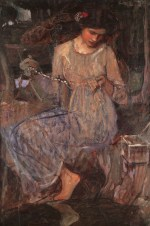 John William Waterhouse  - Bilder Gemälde - Das Negligee