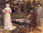 John William Waterhouse  - Bilder Gemälde - Dante und Beatrice