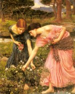 John William Waterhouse  - Bilder Gemälde - Rosen im Mai