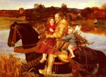 John Everett Millais - paintings - A Dream of the Past (Sir Isumbras at the Ford)