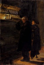John Everett Millais - paintings - Greenwich Pensioners at the Tomb of Nelson