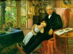 John Everett Millais - paintings - James Wyatt and his Granddaughter Mary