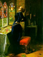 John Everett Millais - paintings - Maria in the Moated Grange