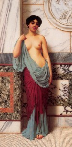 John William Godward - paintings - At the Thermae