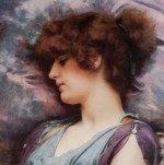 John William Godward - paintings - Far Away Thoughts