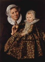 Frans Hals - paintings - Catharina Hooft with her Nurse