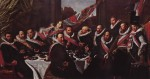 Frans Hals - paintings - Banquet of the Officers of the St. George Civic Guard
