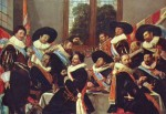 Frans Hals - paintings - Banquet of the Officers of the St George Civic Guard Company