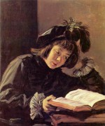 Frans Hals - paintings - Lesender Knabe