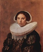 Frans Hals - paintings - Portrait of a woman, possibly Sara Wolphaerts van Diemen