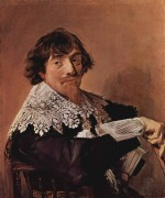 Frans Hals - paintings - Portrait of a man, possibly Nicolas Hasselaer