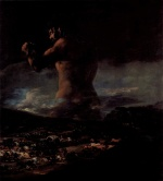 Francisco Jose de Goya - paintings - The Colossus