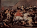 Francisco Jose de Goya - Bilder Gemälde - Kampf mit den Mamelucken am 2. Mai 1808 in Madrid