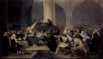 Francisco Jose de Goya  - Bilder Gemälde - Tribunal der Inquisition