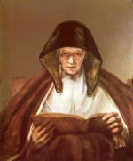Alte Frau Lesend Alter Mann Im Lehnstuhl Mit
