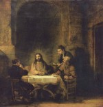 Rembrandt - paintings - Christus in Emmaus